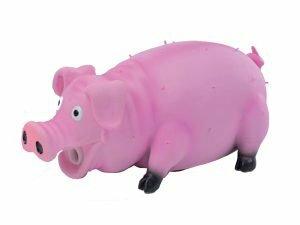 Spgd hond latex varken+pieper roze 20cm