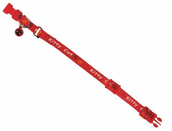 Halsband Kitty Cat rood 8 mm x 16-22 cm