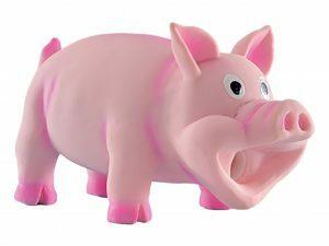 Spgd hond latex varken+pieper roze 15cm