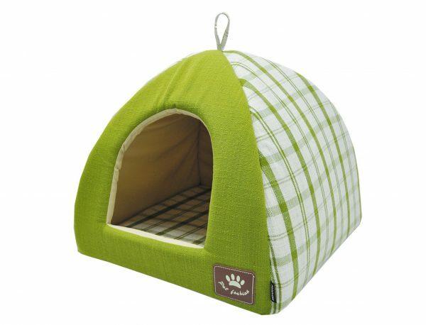 Tipi Checker groen 40x40x35cm