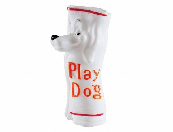 Speelgoed hond vinyl krant 20cm