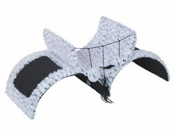 Krabplank Bridge Astra zwart/wit 71x30x31cm