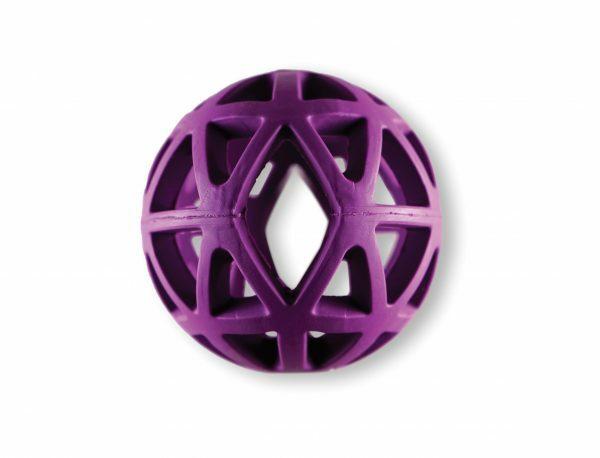 Speelgoed hond rubber holle bal paars Ø9cm