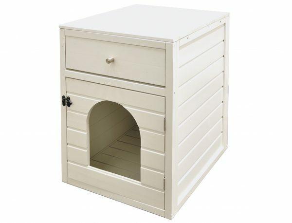 Kattenhuis canasta wit 58x45x60cm