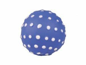 Speelgoed hond vinyl pieper bal blauw 8,5cm
