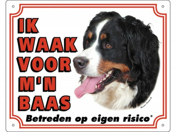 Waakbord PVc Berner Sennen wit NL