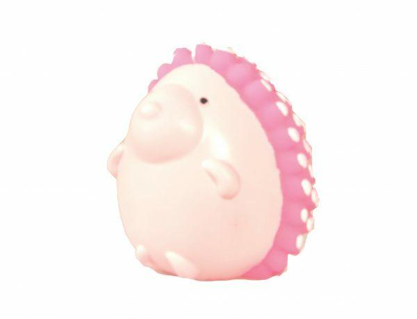 Speelgoed hond vinyl pieper egel roze 9cm