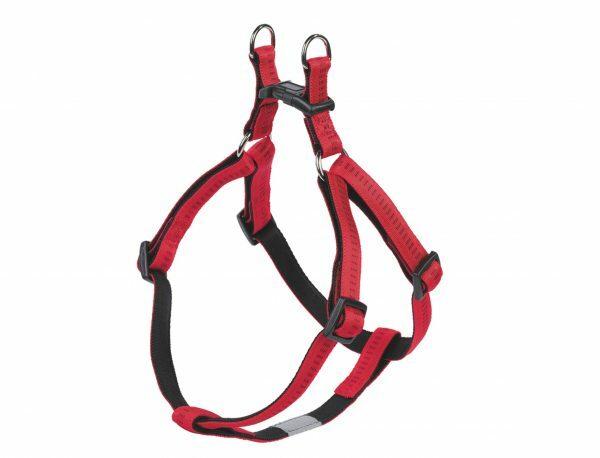 Harnas hond nylon Soft Grip rood 10mmx30-40cm