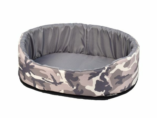 Hondenmand Army grijs 60x40x21cm