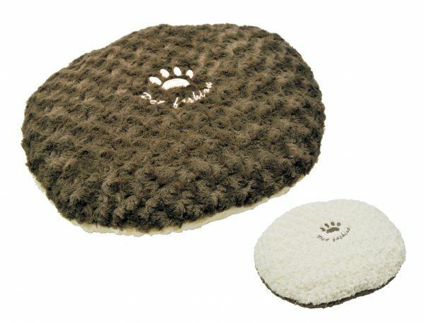 Kussen fleece Modern bruin 80x65cm