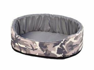 Hondenmand Army grijs 40x25x18cm
