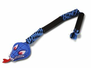 Speelgoed hond blauwe slang 66cm