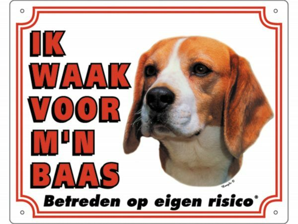 Waakbord PVc Beagle wit NL