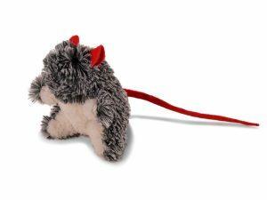 Speelgoed kat pluche muis Franki grijs 23cm