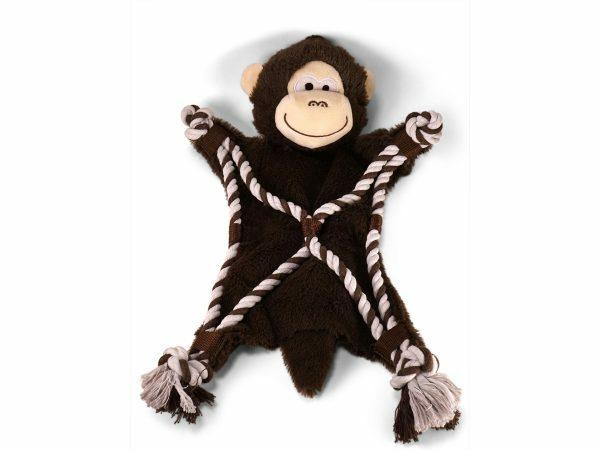 Speelgoed hond Anton de aap met koord 40cm