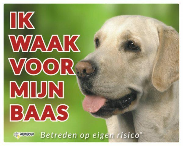 Waakbord foto hond Labrador NL