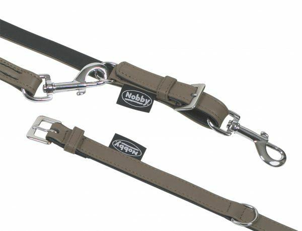 Halsband hond nappaleder stone 37cmx18mm