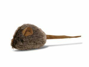 Speelgoed kat pluche piepende muis 15cm