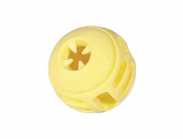 Speelgoed hond TPR bal Yellow Vanilla 8cm