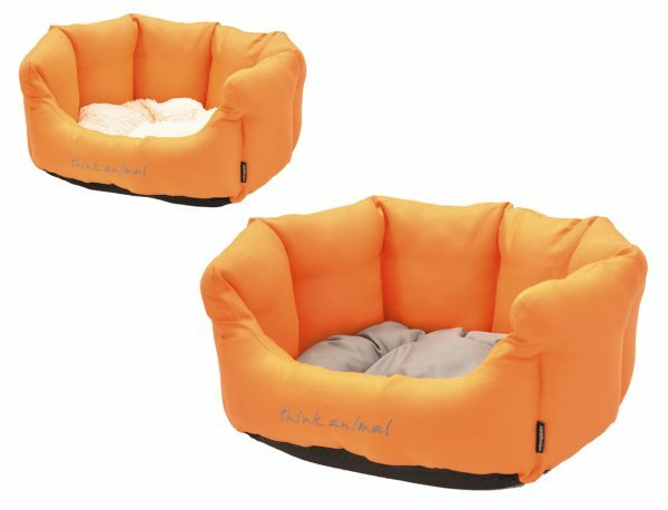 Hondenmand Sitelle oranje/grijs 86x70x24cm