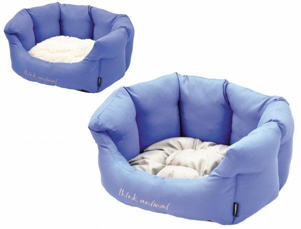 Hondenmand Sitelle blauw/grijs 86x70x24cm