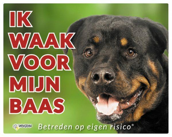 Waakbord foto hond Rottweiler NL
