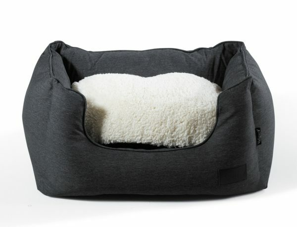 Hondenmand Himalaya antraciet/crème 70x50x30cm