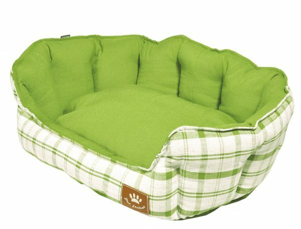 Hondenmand Checker groen 86x70cm
