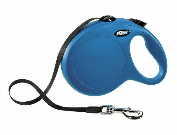 Flexi Classic blauw L (riem 8 m)