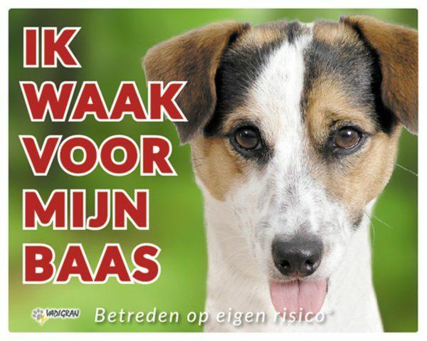 Waakbord foto hond Jack Russel NL