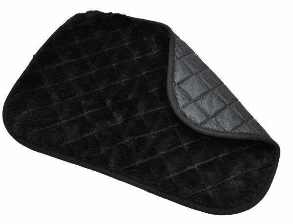Tapijt zwart voor draadkooi 61x46cm