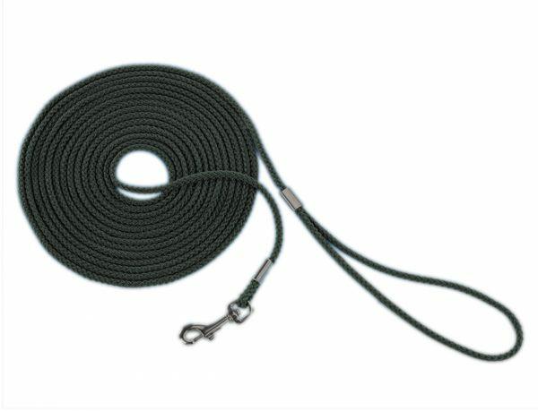 Zoeklijn nylon rond zwart 5 mm x 10 m