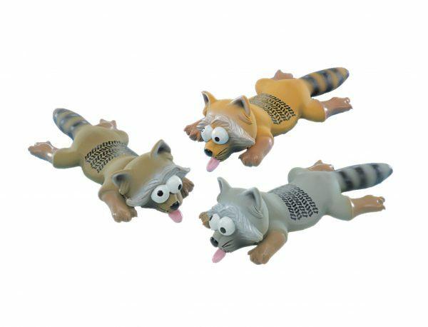 Speelgoed hond latex wasbeer Ass. 25cm