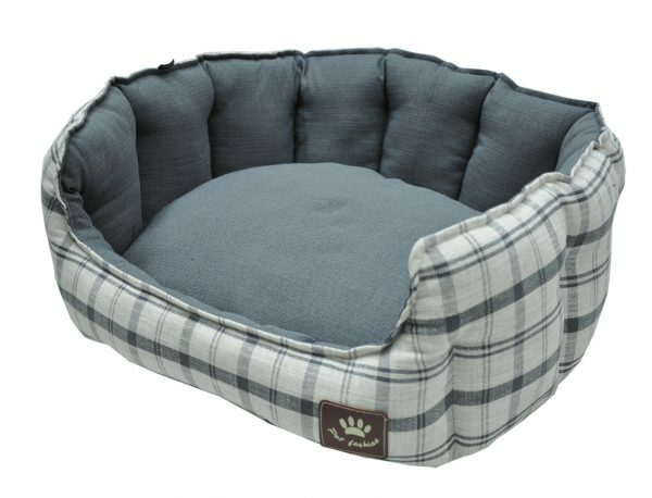 Hondenmand Checker grijs 86x70cm