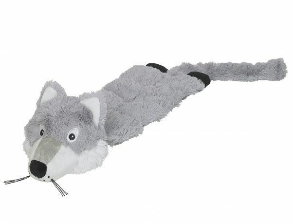 Speelgoed hond pluche vos grijs 57cm