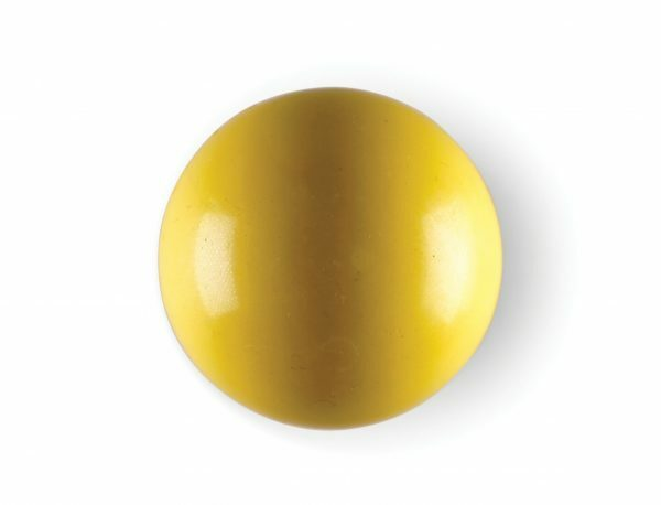 Speelgoed hond rubber bal geel Ø8cm