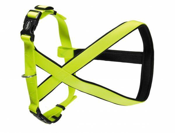 Harnas hond Biothane neon geel 25mmx40-60cm