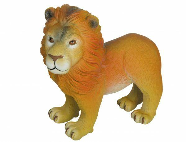 Speelgoed hond latex leeuw 16cm