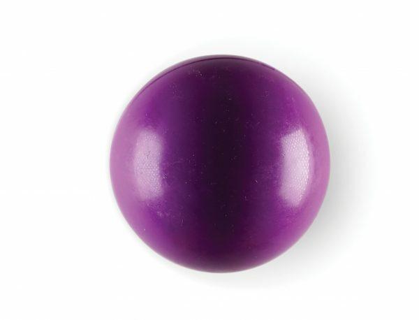 Speelgoed hond rubber bal paars Ø7cm