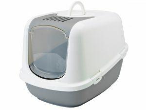 Toilethuis Nestor jumbo wit/grijs 66x48x46cm