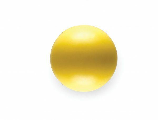 Speelgoed hond rubber bal geel Ø6cm