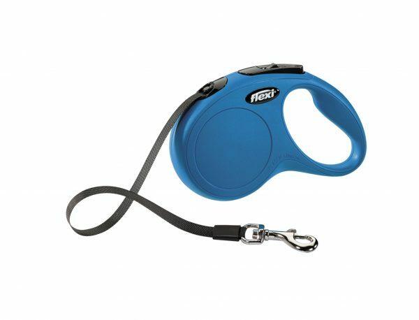 Flexi Classic blauw S (riem 5m)
