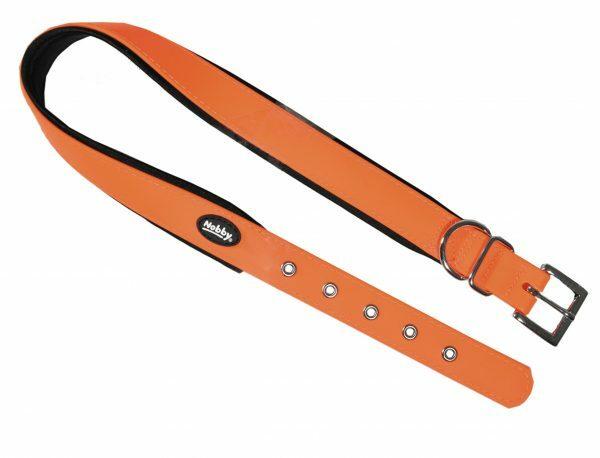 Halsband hond Biothane oranje 25mmx40-50cm