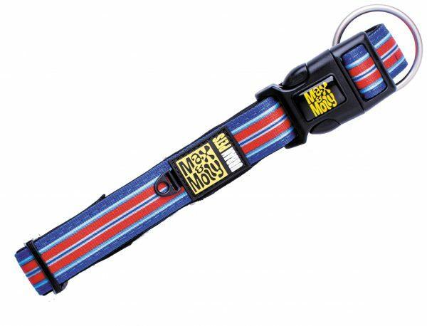 Halsband Hampton Strip Blue S 15mmx28-45cm