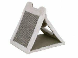 Krabplank driehoekig Eline grijs 31x25x31cm