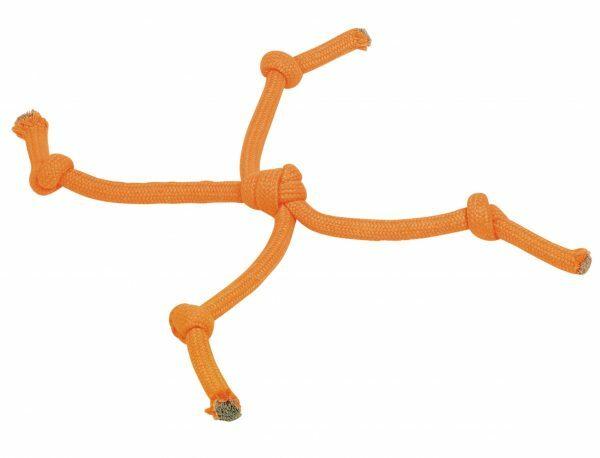 Spgd hond katoen Montain 2 koorden oranje 43cm