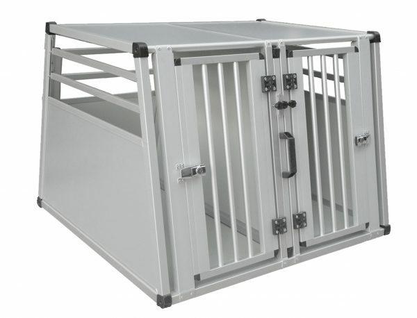 Transportbox alu+tussenwand vr 2 hd 88x92x68cm XL