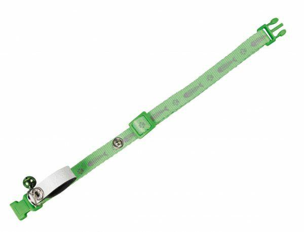Halsband kat My boss groen 10 mm x 20-30 cm