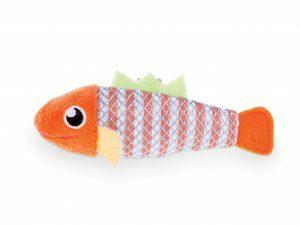 Speelgoed kat vis Stripy 11cm