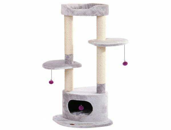 Kattenklim Shemeto lichtgrijs 50x50x116.5cm